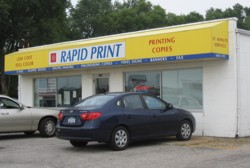 Rapid Print front of building